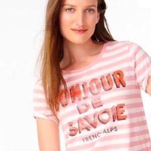 """J. Crew vintage cotton """"Bonjour de Savoie"""" tshirt"""